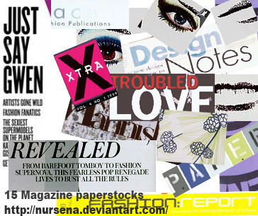 15 magazine paper stocks by Nursena