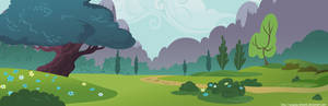 Ponyville park background