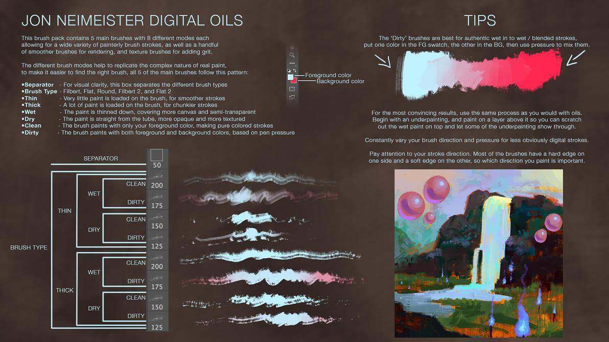 Digital Oil Brushes - Free Download by Andantonius