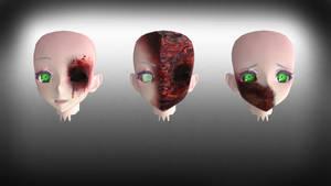 [MMD] TDA Gore Face edit DL by AkumaKay