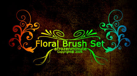 Floral Brush Set by afrozenminute
