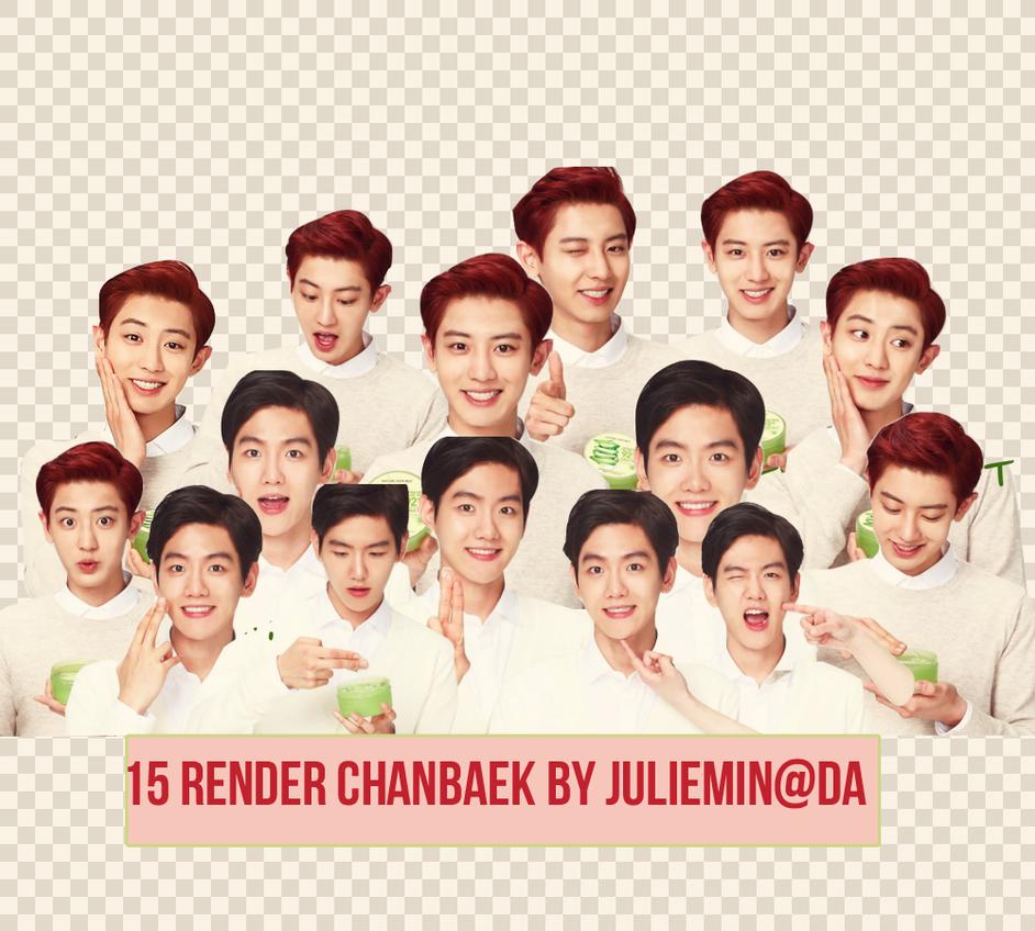 [PNG PACK ] ChanBaek render - EXO by JulieMin