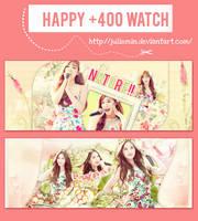 [140821][PSD] HAPPY +400 WATCH by JulieMin