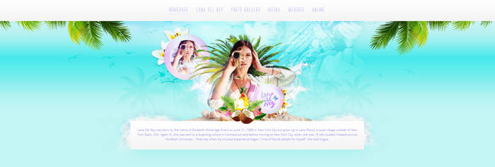 Lana Del Rey PSD Header by cherryproductionsorg
