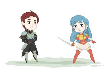 Eirika and Seth: Animation by Bluu-Bean