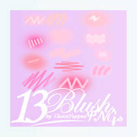 [PNG PACK] Cheek Blush Pink PNG by ChocoYeppeo