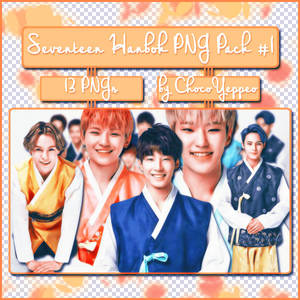 [PNG PACK] Seventeen Hanbok in Chuseok Greeting #1