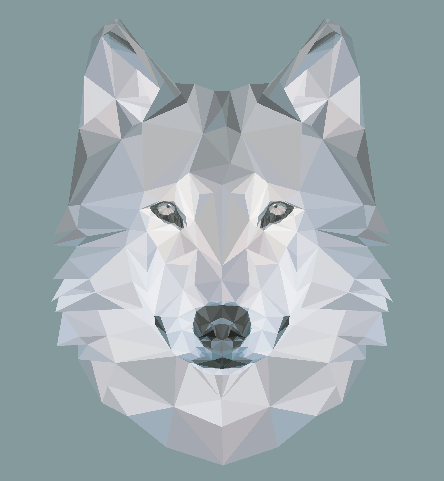 Favorit Low Poly Art: Wolf by zelda-Freak91 on DeviantArt BN82