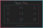 Neon Flat Icon Pack