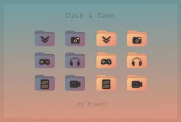 Dusk and Dawn folder icons