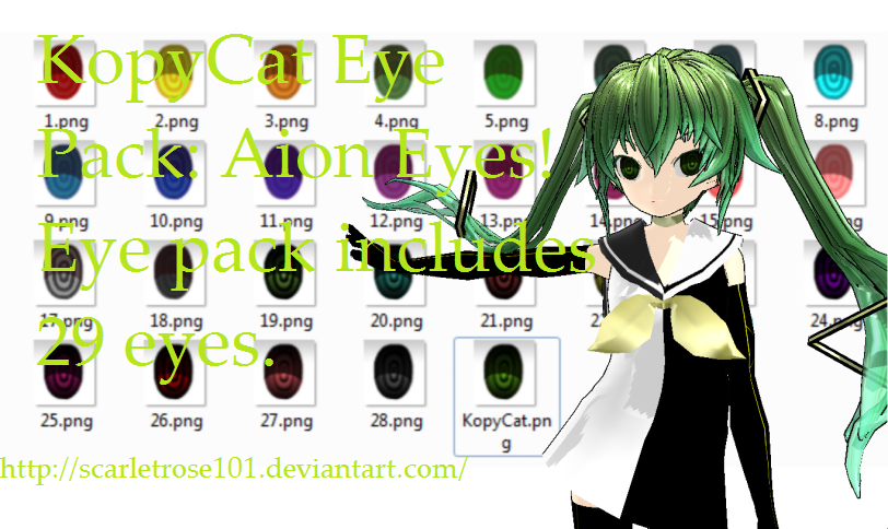 KopyCat Eye Pack: Aion Eyes by scarletrose101