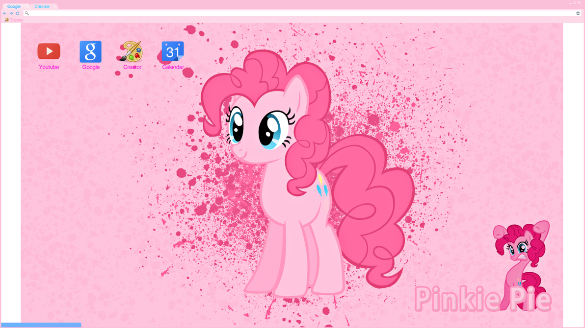 Google chrome themes youtube downloader - Pinkie Pie Google Chrome Theme By Bulbamario