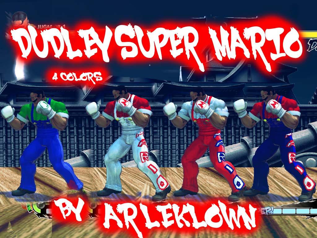 SSF4:AE MOD DUDLEY SUPER MARIO by arleklown