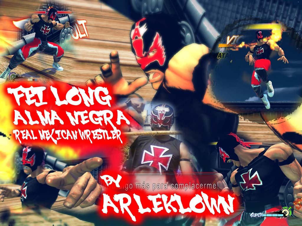 SSF4:AE MOD FEI LONG ALMA NEGRA by arleklown