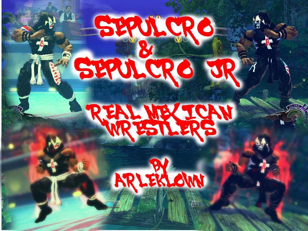 SSF4:AE MOD AKUMA SEPULCRO Y SEPULCRO JR by arleklown