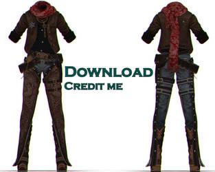 MMD: BnS cowboy dl by KlaidAstoria