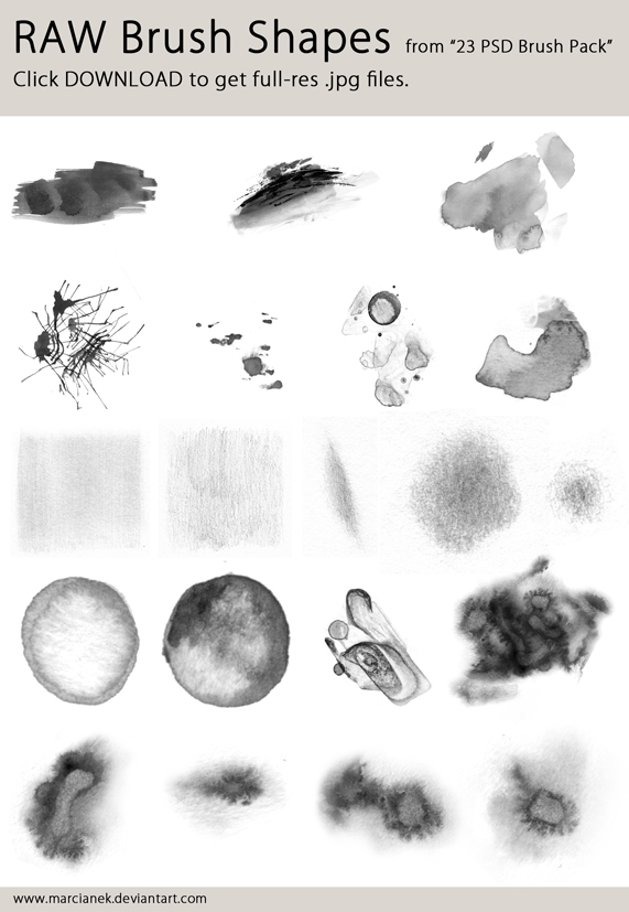 Raw brush shapes by Marcianek