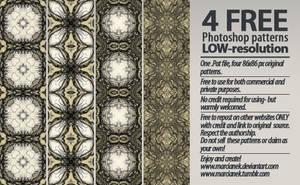 4 Free Kaleidoscopic Patterns by Marcianek