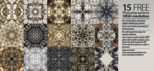 15 Hi-res Free Kaleidoscopic Patterns