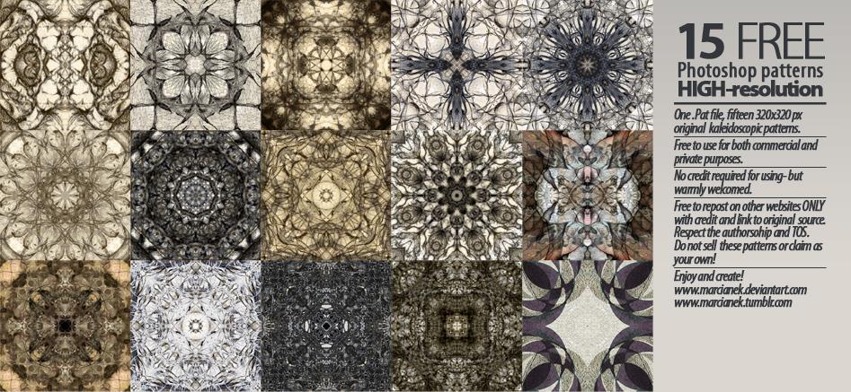 15 Hi-res Free Kaleidoscopic Patterns by Marcianek