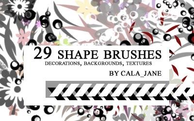 29 shape brushes by calajane
