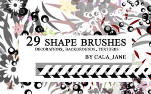 29 shape brushes by calajane