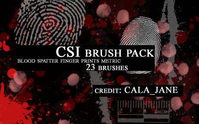 'CSI' brush set