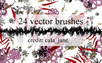 Vector Brushes by calajane