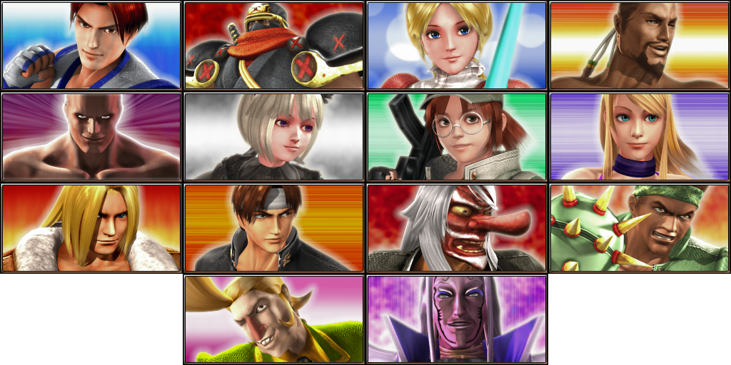 Unlocked Characters Images from  KOFMI2 by RockHowardMX