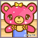 Glitter bear mini dressup