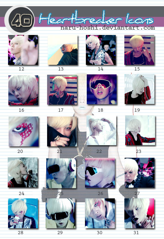 G-Dragon - Heartbreaker icons by naru-hoshi