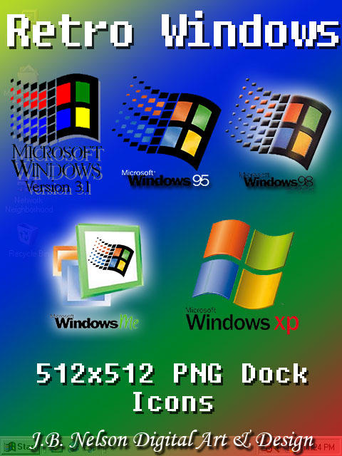 Retro Windows Dock Icons by ShadowLights