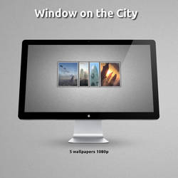 Window on the city wallpaper by emixam29