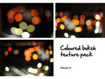 coloured bokeh texture pack