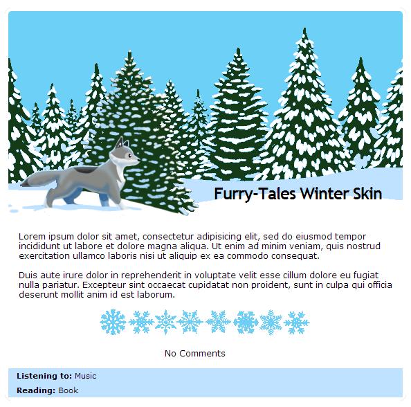 Furry-Tales Winter journal skin by Stygma