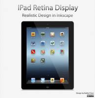 New Ipad 4 Realistic Design in Inkscape by raditeputut
