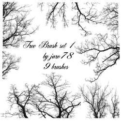 Tree Brush Set 1 by jaro78