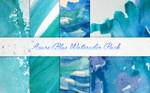 Azure Blue Watercolor Textures Pack