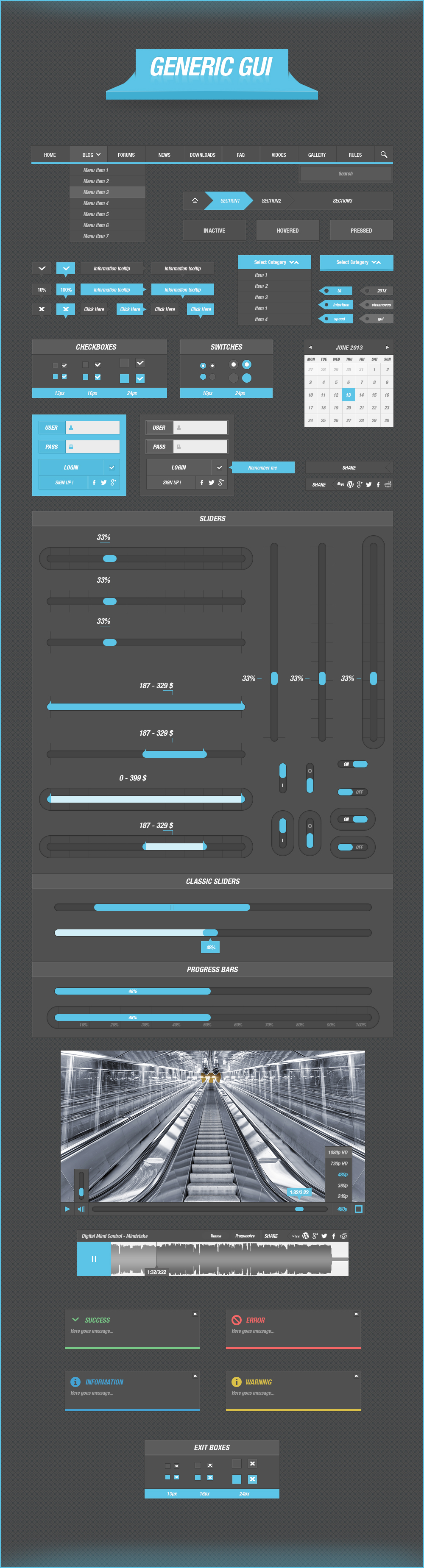 Generic GUI for Webpage / Application Design by vertus-design