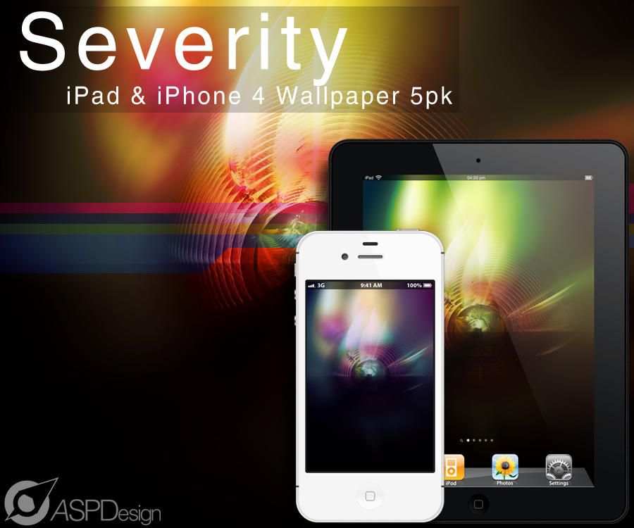 Severity iPad - iPhone 4 Wallpaper 5pk by Snakesan