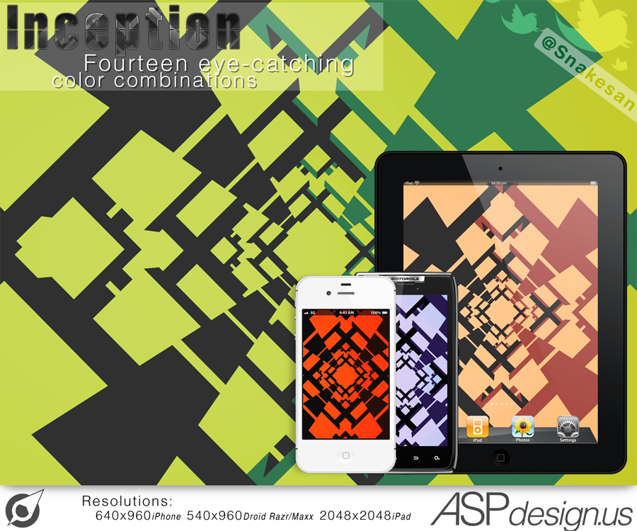 Inception iPad, iPhone, Droid Razr Maxx Wallpaper by Snakesan