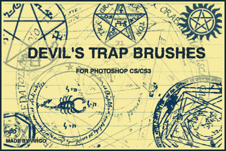 Devil's Trap Brushes by virgothedreamer