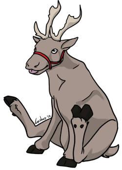 Free Reindeer Lineart