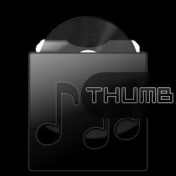 Dark Musicfolder Icon by hypercrites