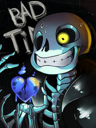 Sans showing us some bad time