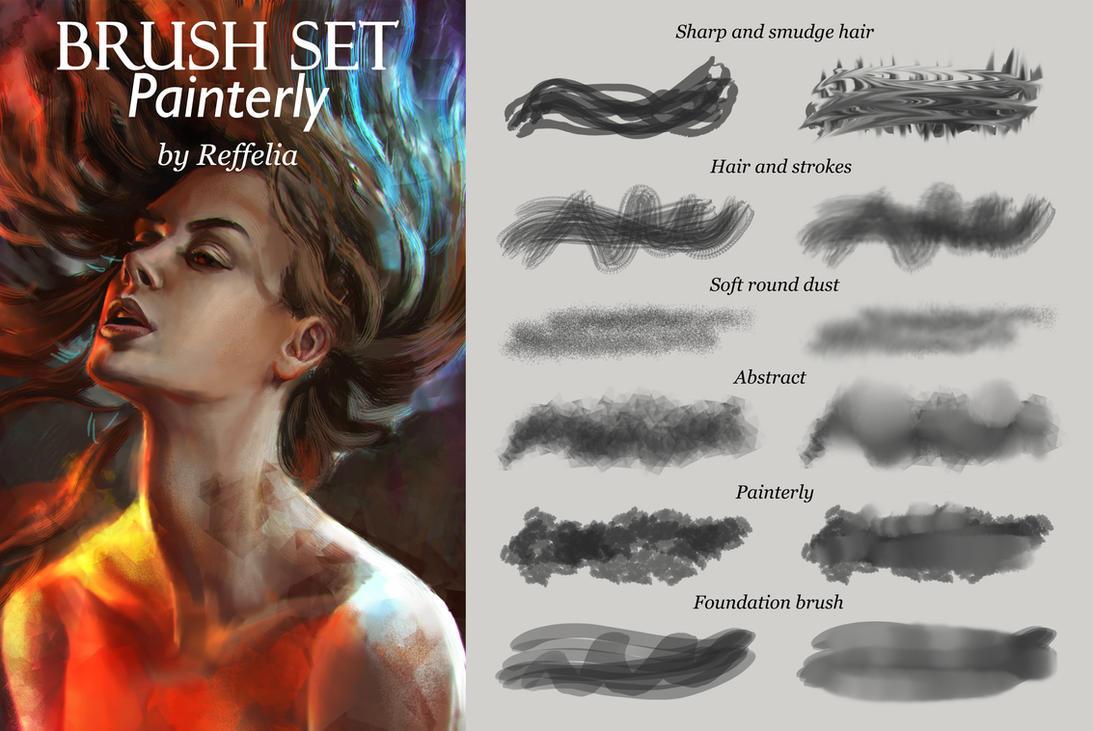 Brush set - painterly by Reffelia
