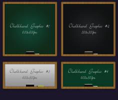 4 Different Chalkboard psd file by vesperTiLo