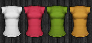 Ladies Short Sleeved Shirt Template psd file