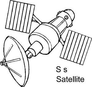картинка раскраска спутника