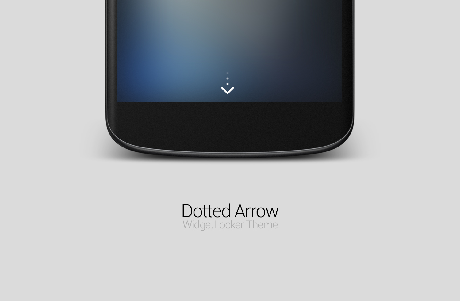 Dotted Arrow WidgetLocker Theme by FFra